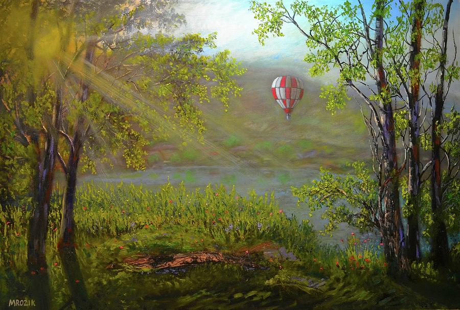 Balloon Painting - Flying Away by Michael Mrozik