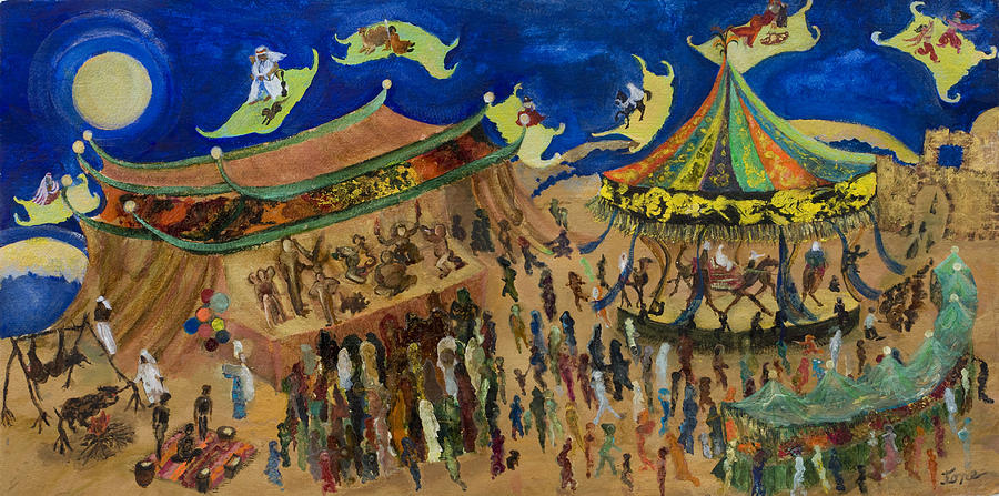 Flying Painting - Flying Carpets by Ione Citrin
