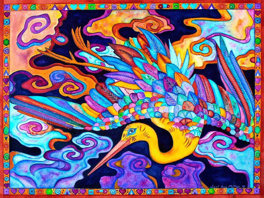 Flying Crane by Lori Miller