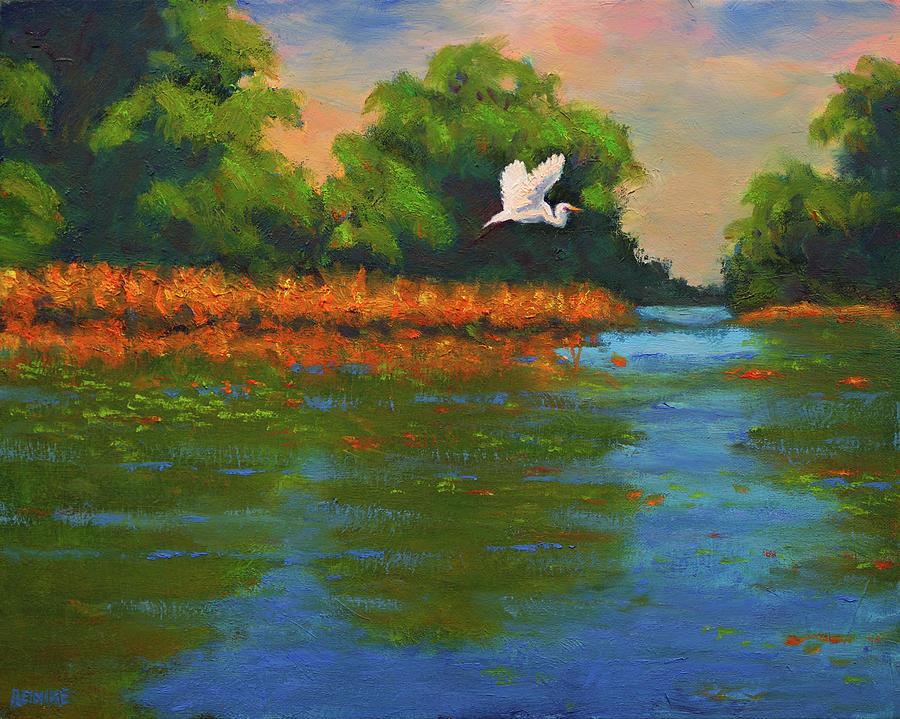 Langan Lake Heron II by Vernon Reinike
