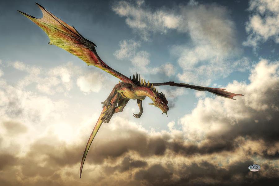Flying Dragon: Flying Dragon, Death From Above Digital Art By Daniel Eskridge