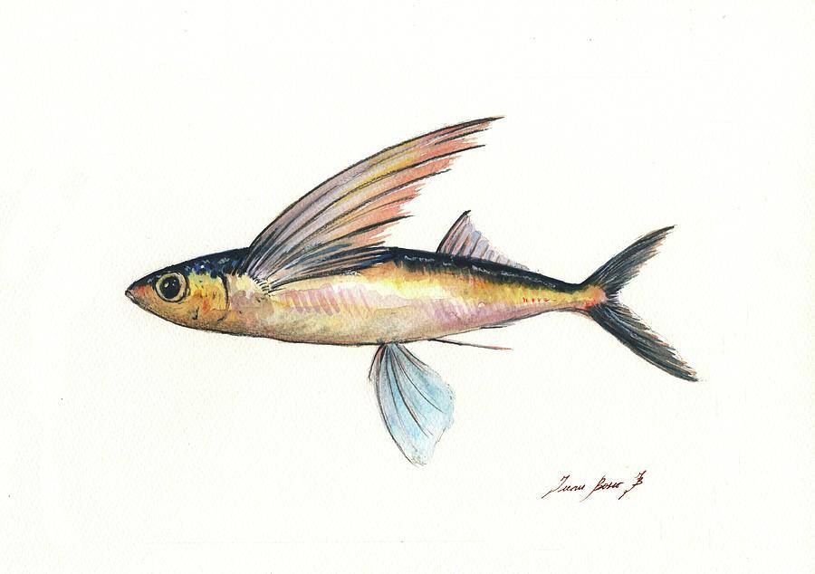Flyingfish Painting - Flying Fish by Juan Bosco