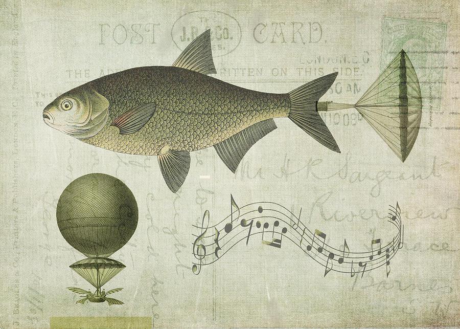 Fish Digital Art - Flying Fish by Sarah Vernon