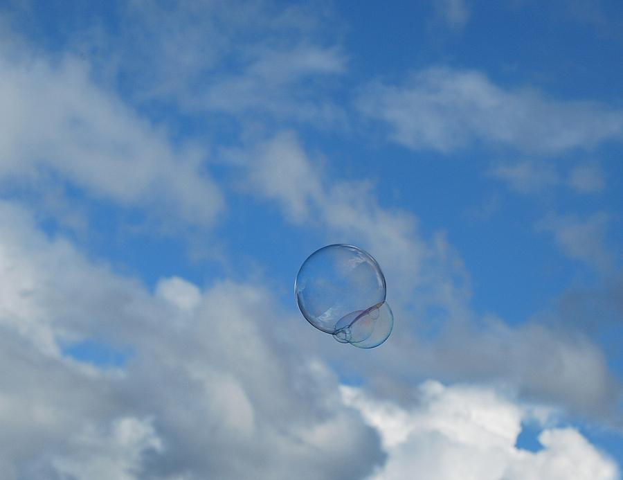 Bubbles Photograph - Flying Free by Marilynne Bull