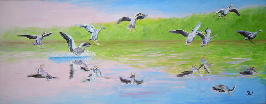Flying Geese by Shirley Wellstead
