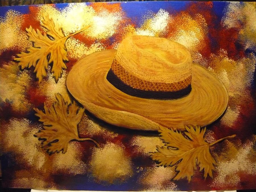 Flying Hat  Painting by Anna Dionia