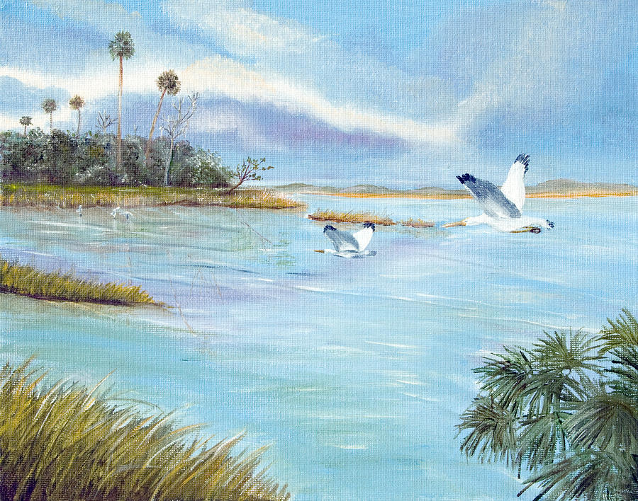 Landscape Painting - Flying High by Dorothy Riley