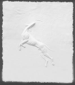 Dog Sculpture - Flying High by Mary Driscoll