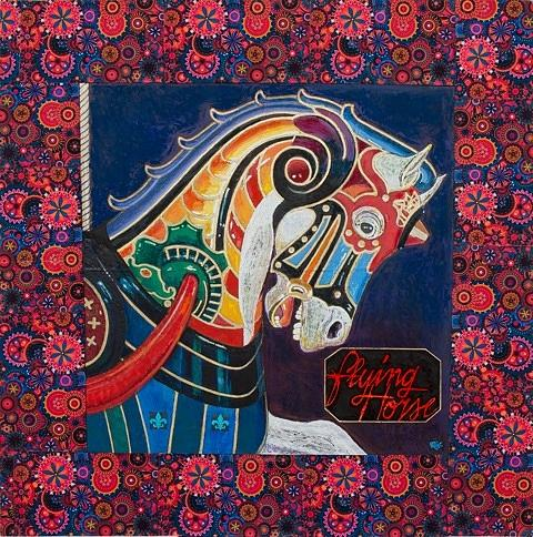 Carousel Mixed Media - Flying Horse by Rich Richardson
