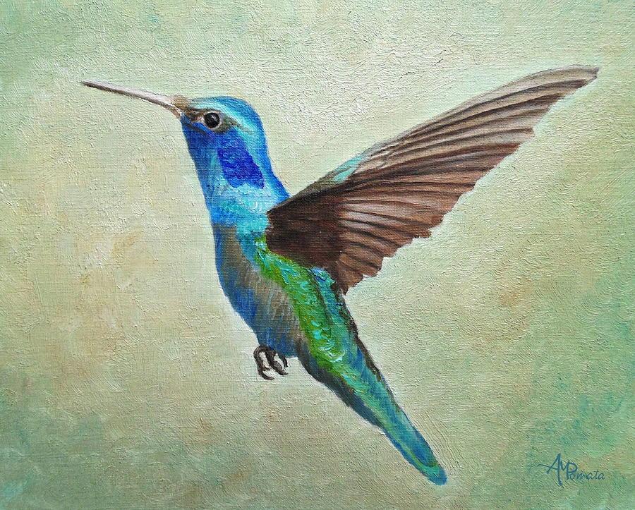 fineartamerica.com - Flying Hummingbird by Angeles M Pomata