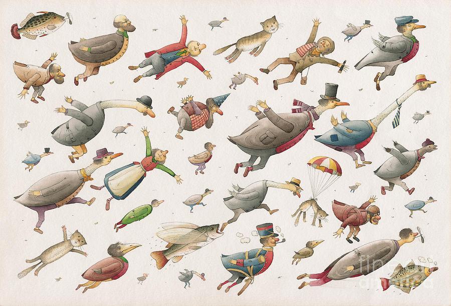 Flying Painting by Kestutis Kasparavicius