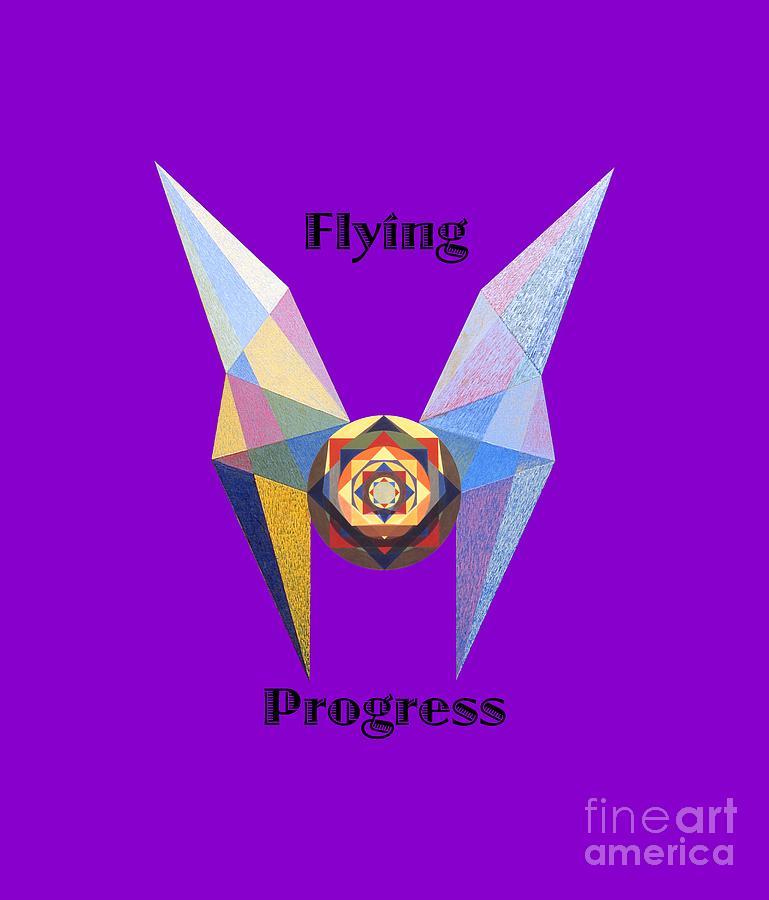 Tarot Painting - Flying Progress text by Michael Bellon