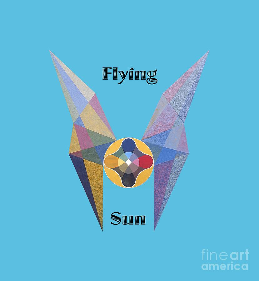 Tarot Painting - Flying Sun text by Michael Bellon