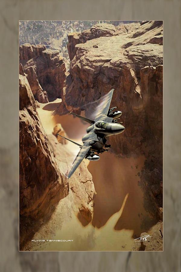 War Digital Art - Flying Tenniscourt by Peter Van Stigt