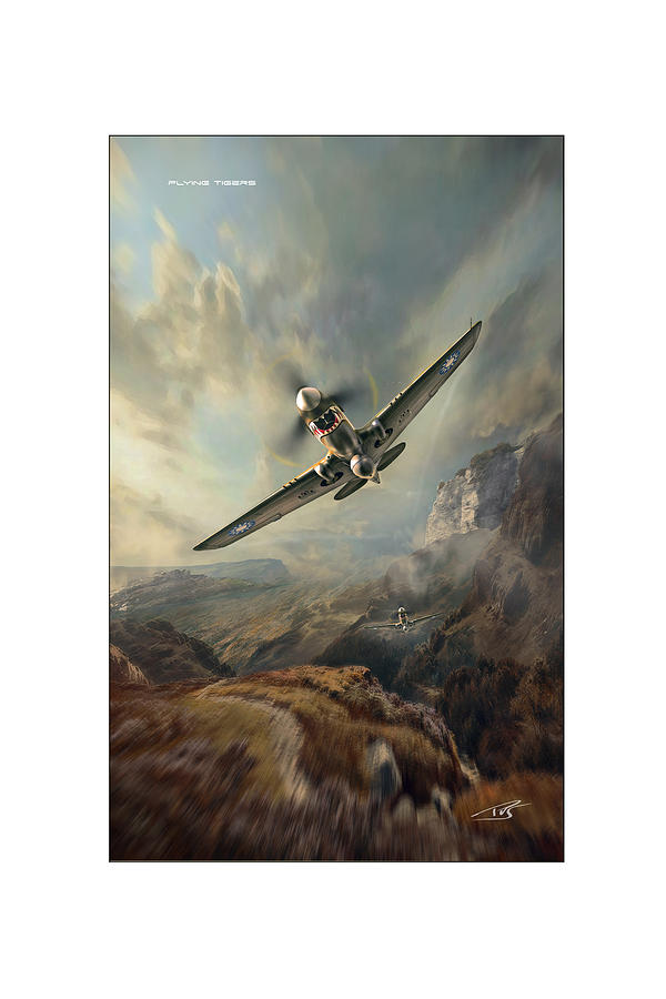 War Digital Art - Flying Tigers XXL by Peter Van Stigt