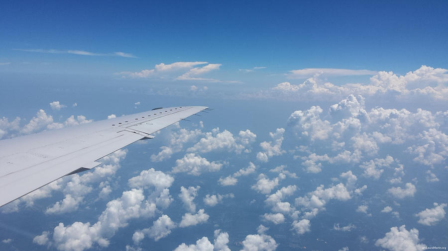 Sky Photograph - Flying To Toronto, July 2014 by Laura Martin