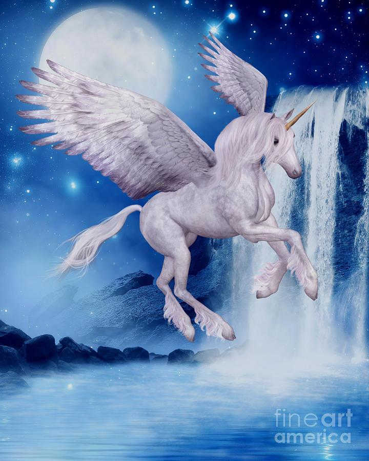 Flying Unicorn Wall Art