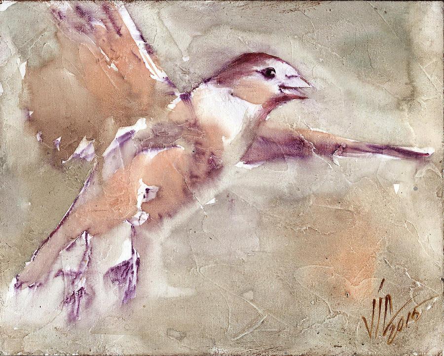 No People Painting - Flying by Vali Irina Ciobanu