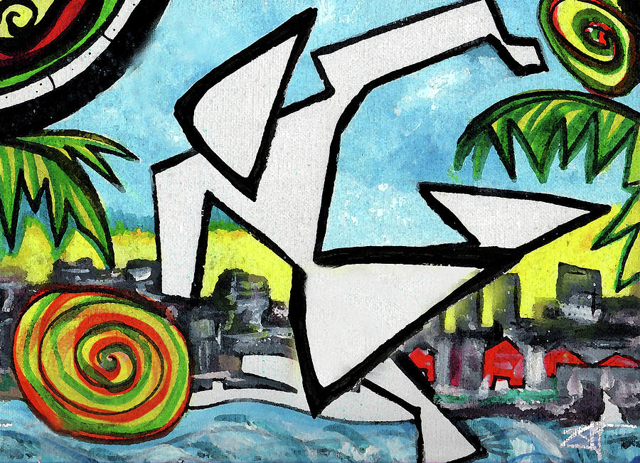Abstract Painting - FlyingGurleee by Jorge Delara
