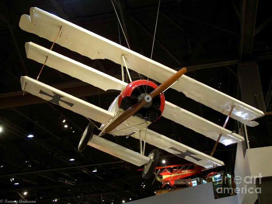 Focker Tri-plane Photograph - Focker Tri-plane by Tommy Anderson