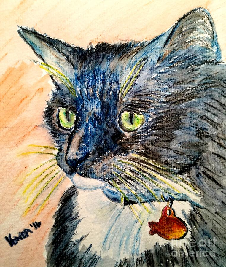 Cat Mixed Media - Focus Intent by Vonda Lawson-Rosa