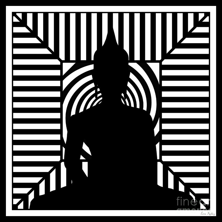 Buddha Digital Art - Focus by Lita Kelley