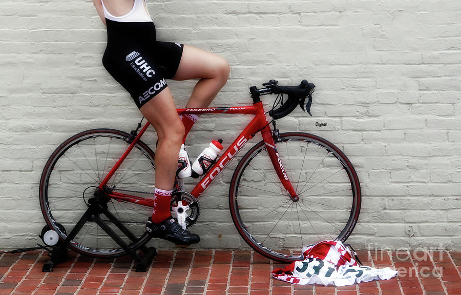 Bicycle Photograph - Legs On Focus  by Steven Digman