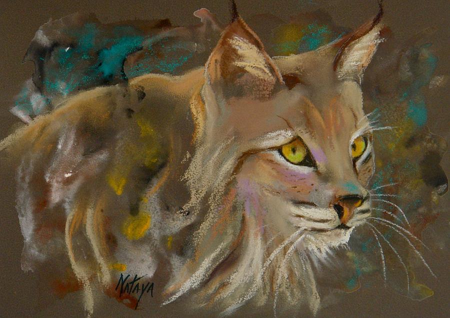 Bobcat Pastel - Focused Intent by Nataya Crow