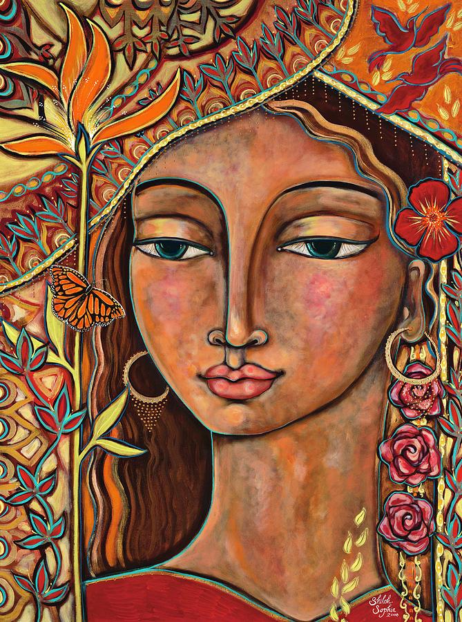 Bird Painting - Focusing On Beauty by Shiloh Sophia McCloud