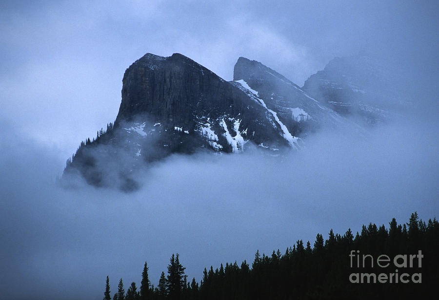 Alberta Photograph - Fog And Clouds by Sandra Bronstein