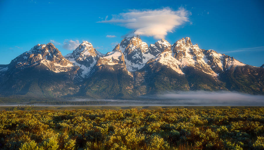 Fog At The Tetons Photograph