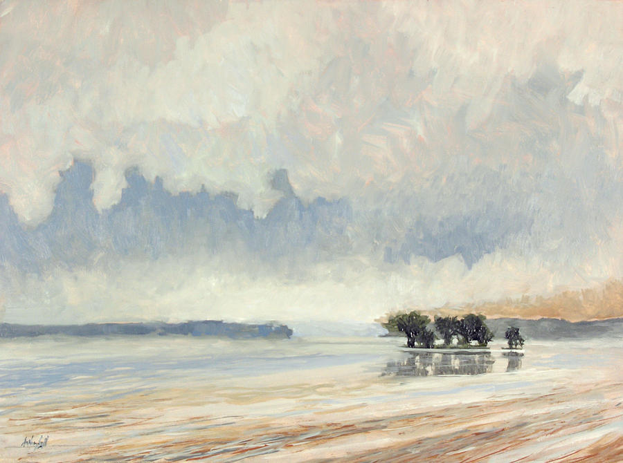 Fog Painting - Fog Between the Storms by Anthony Sell