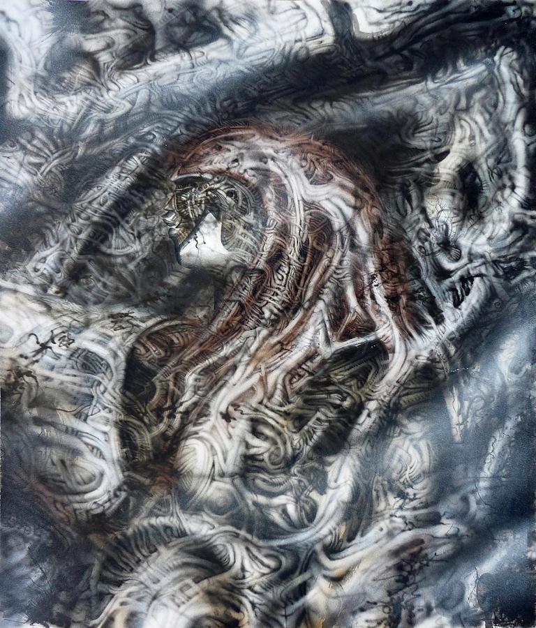 Biomechanical Painting - Fog by David H Frantz