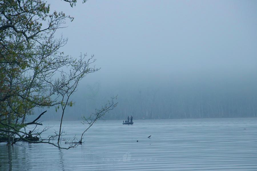 Fog Fishing Photograph by Tony Umana