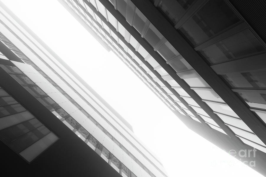 Architecture Photograph - Fog Technopolis by Tapio Koivula