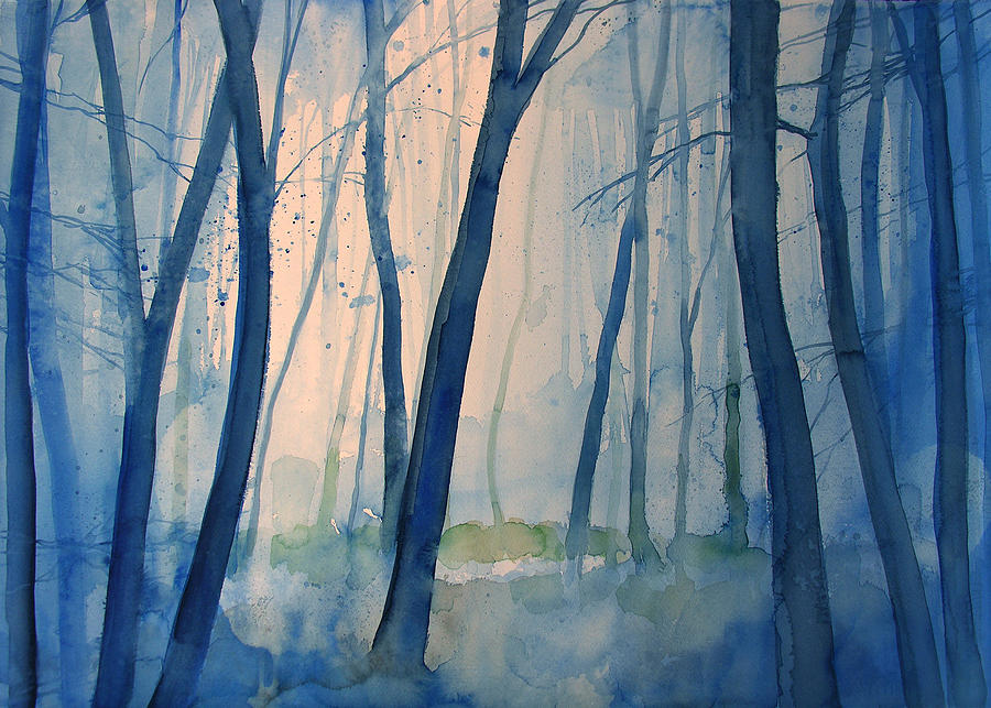 Tree Painting - Fog in the forest by Alessandro Andreuccetti