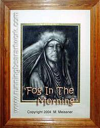 Western Drawing - Fog In The Morning by Michael Meissner