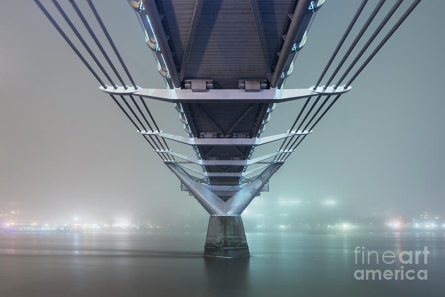 Cityscape Photograph - Fog - Millennium Bridge by Rod McLean