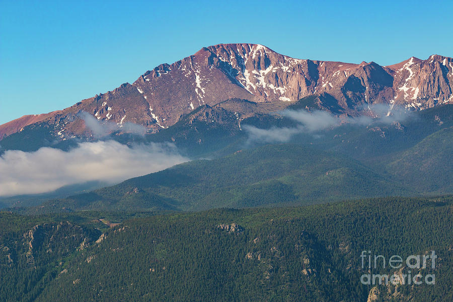 Fog On Pikes Peak Photograph
