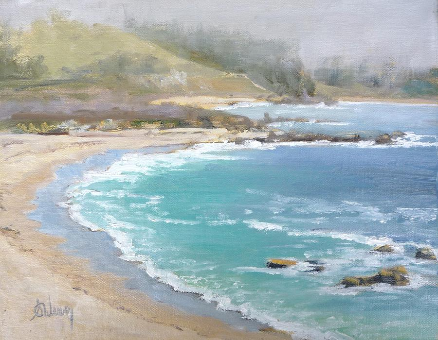 Landscape Painting - Fog On The Coast by Sharon Weaver