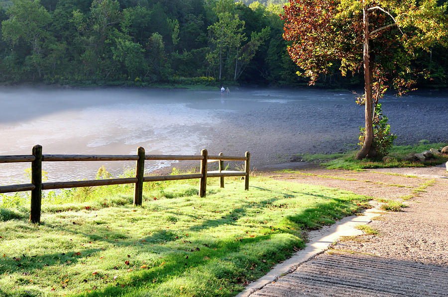 Tailwater Photograph - Fog On The River by Betty LaRue