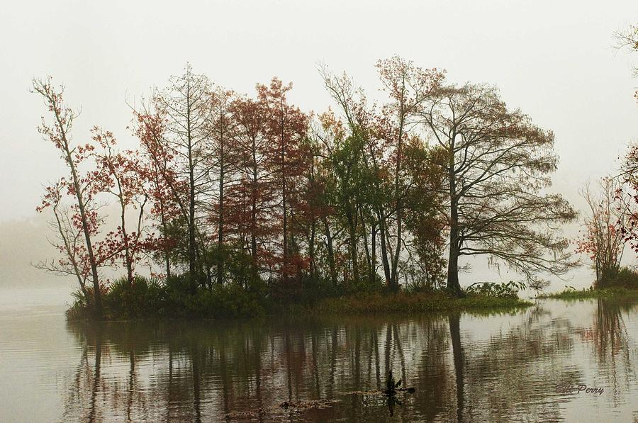 Landscape Photograph - Fog On The River by Bill Perry
