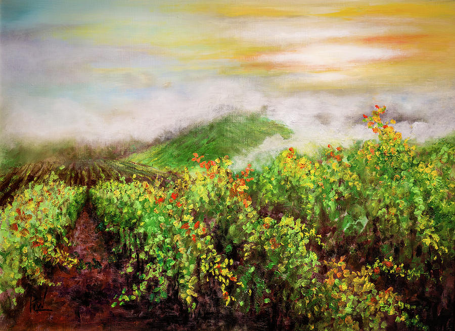 Landscape Painting - Fog On The Vines by Philip Lodwick Wilkinson