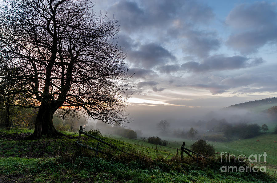 Clouds Photograph - Fog Rolled In by Jeffrey Teeselink