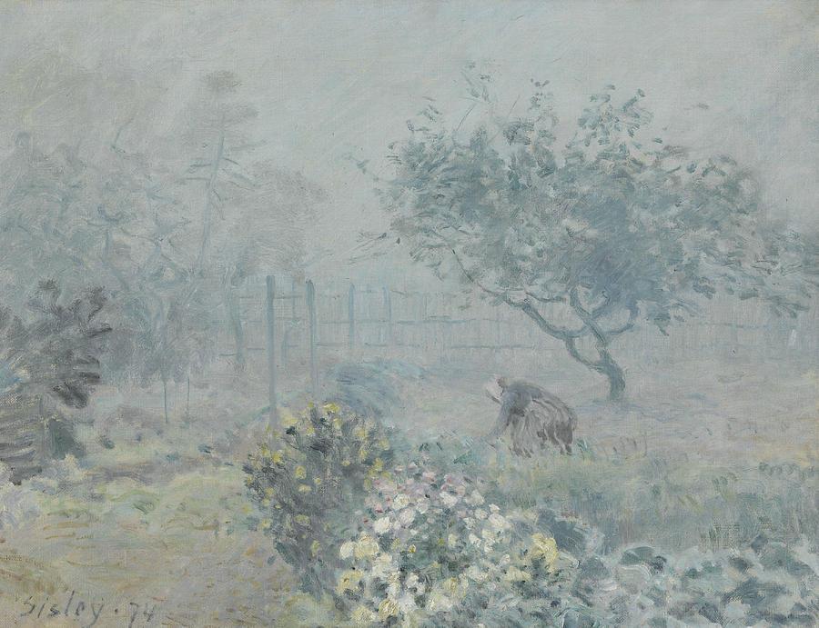 Alfred Sisley Painting - Fog, Voisins by Alfred Sisley