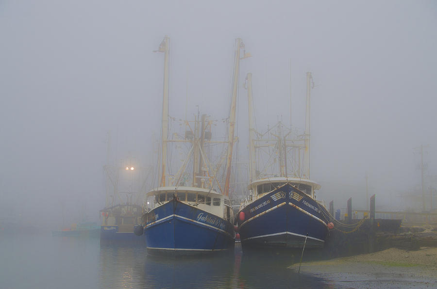Foggy Photograph - Fogged In - Cape May New Jersey by Bill Cannon