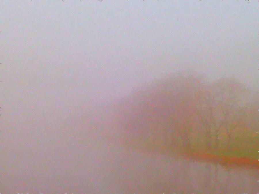 Foggy Painting - Foggy Autumn Morning by Tom Tunnicliff