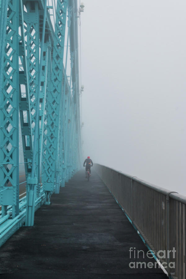 Foggy Bike Ride by Jason Finkelstein