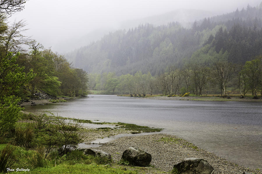 Fog Photograph - Foggy Day At Loch Lubnaig by Fran Gallogly