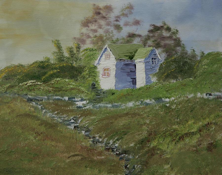 Westport Painting - Foggy Day In Westport by Robin Lee